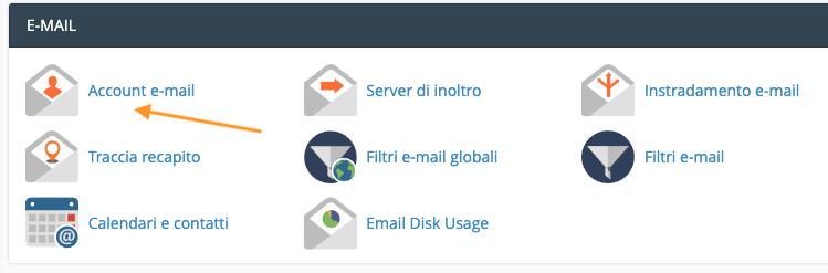 Aggiungi account email