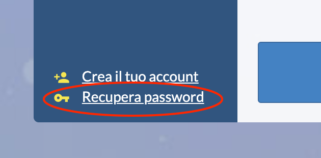 Hai dimenticato la Password?