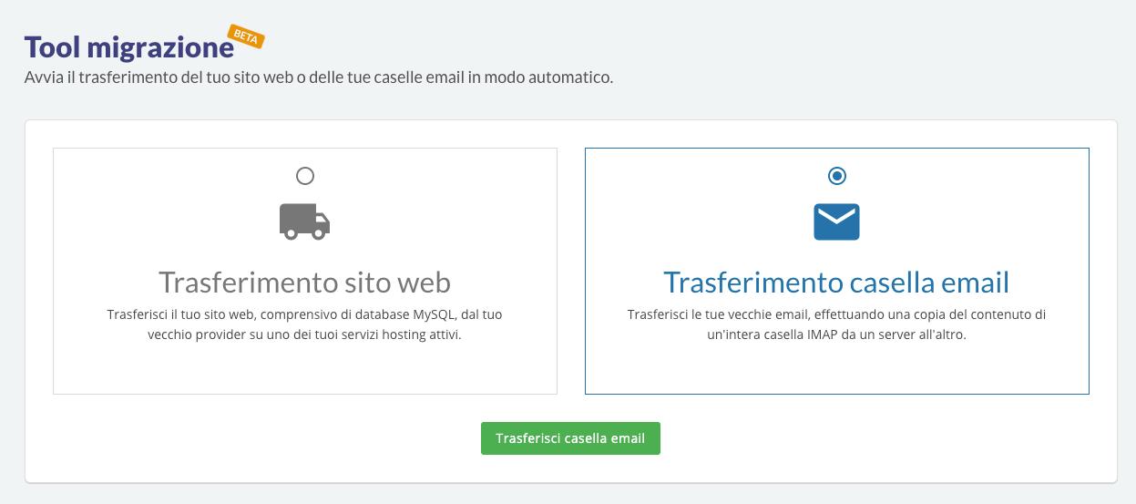 migrazione email